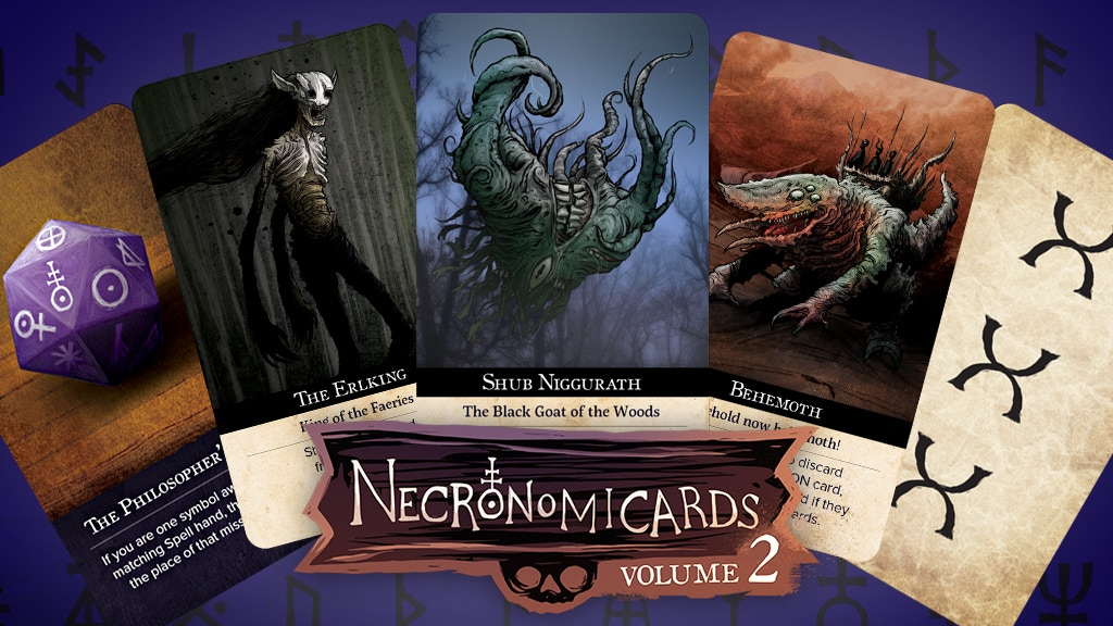 NecronomiCards Vol 2 – Lovecraftian Card Game Expansion project video thumbnail