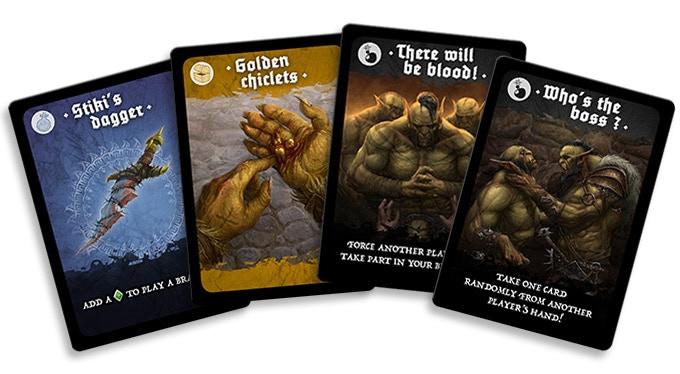 magic stuff, treasure and cheap shots cards