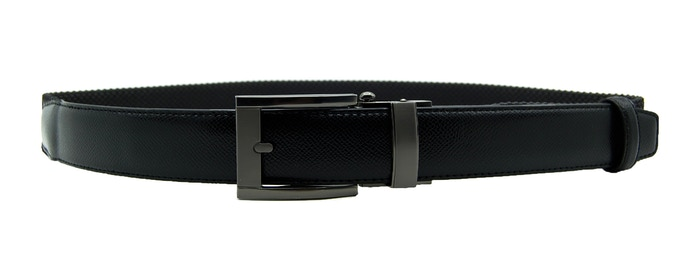 Crossgrain leather X-Flex belt