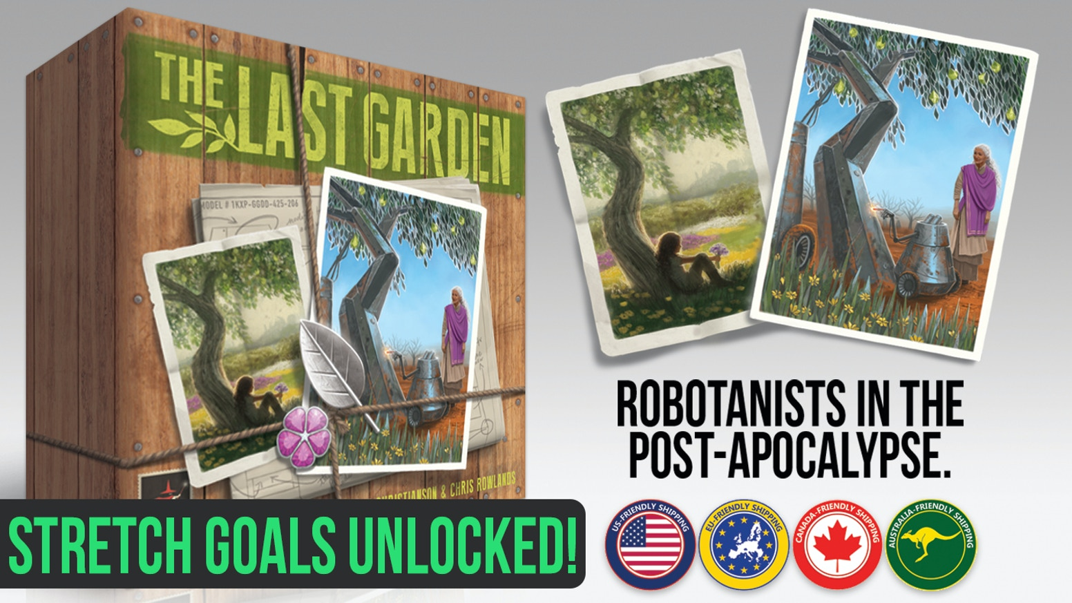 A board game where players control groups of Robotanists making a beautiful artificial garden in the wastelands of the post-apocalypse.
