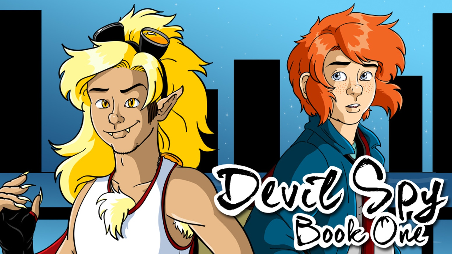 Devil Spy is a webcomic about a teenage human animal hybrid in a world where humans were wiped out by war.