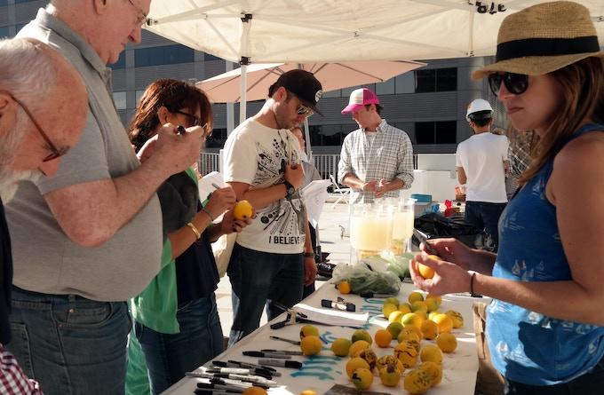 Fallen Fruit's Lemonade Stand (Photo © Renée Jones)