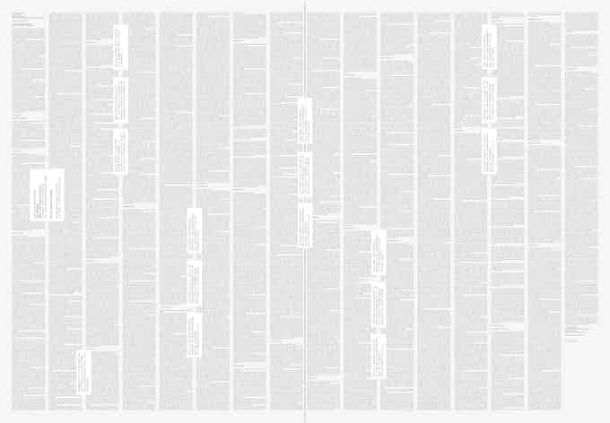 Page 14-15 of the specimen newspapers