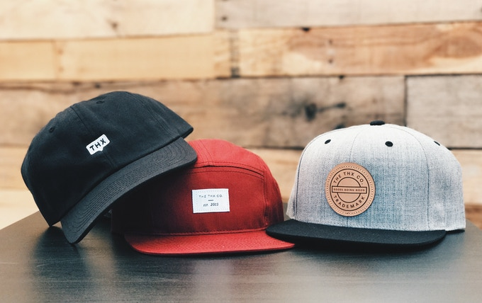 Black ball cap, Red five panel, Grey Snapback