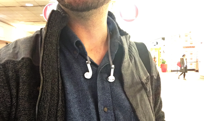 PodStraps on Airpods on Jared