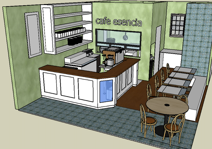 rendering of the space