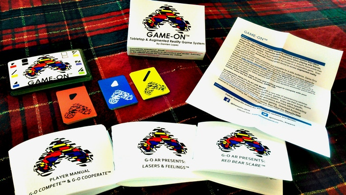 GAME-ON base set + rulebooks for 2 available AR titles.