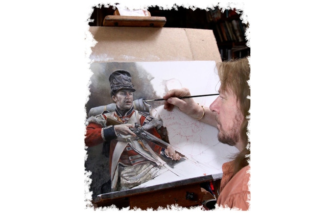 With works in galleries across the world, Chris Collingwood paints solely with traditional Dutch oil paints, manufactured now as they were in 1664. Click on the image to  see more.
