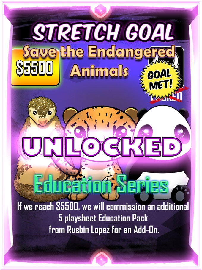 UNLOCKED! Endangered Animal Series - $5.5k Stretch Goal