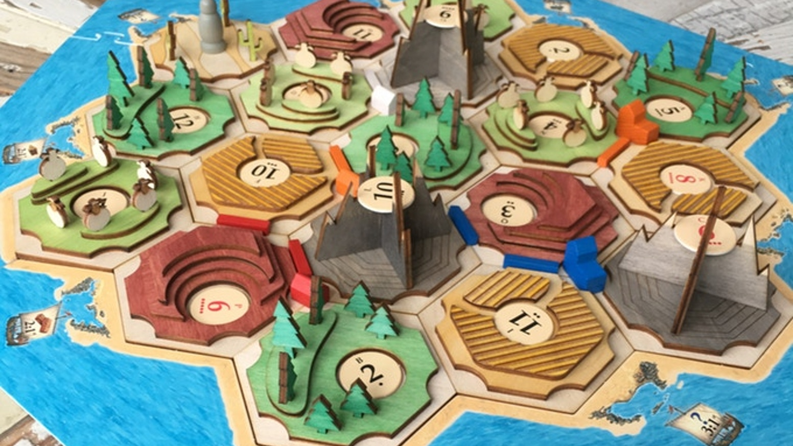 Hex Tile Board Games Island  S