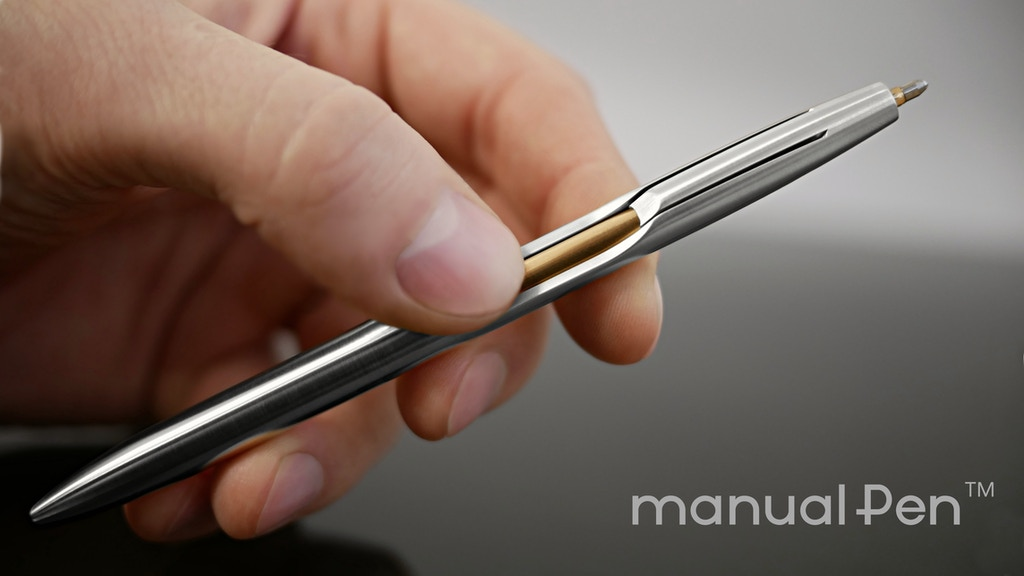ManualPen: Single piece of metal turned into everlasting pen project video thumbnail
