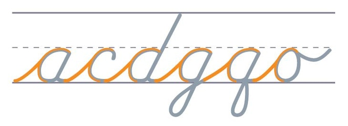Orange Oval Letter String