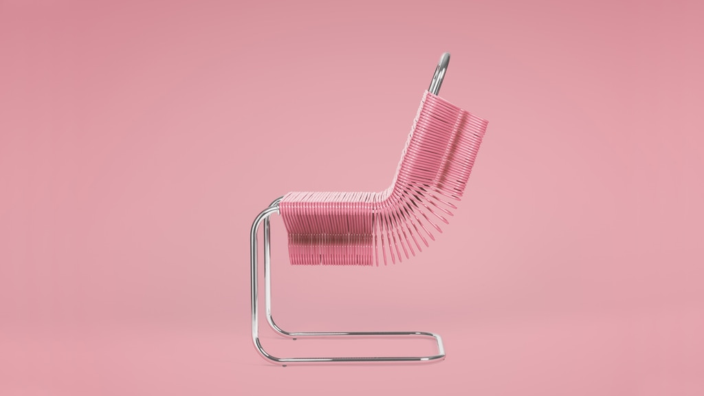 Reinvent your closet with this pop art inspired iconic chair made up of hangers