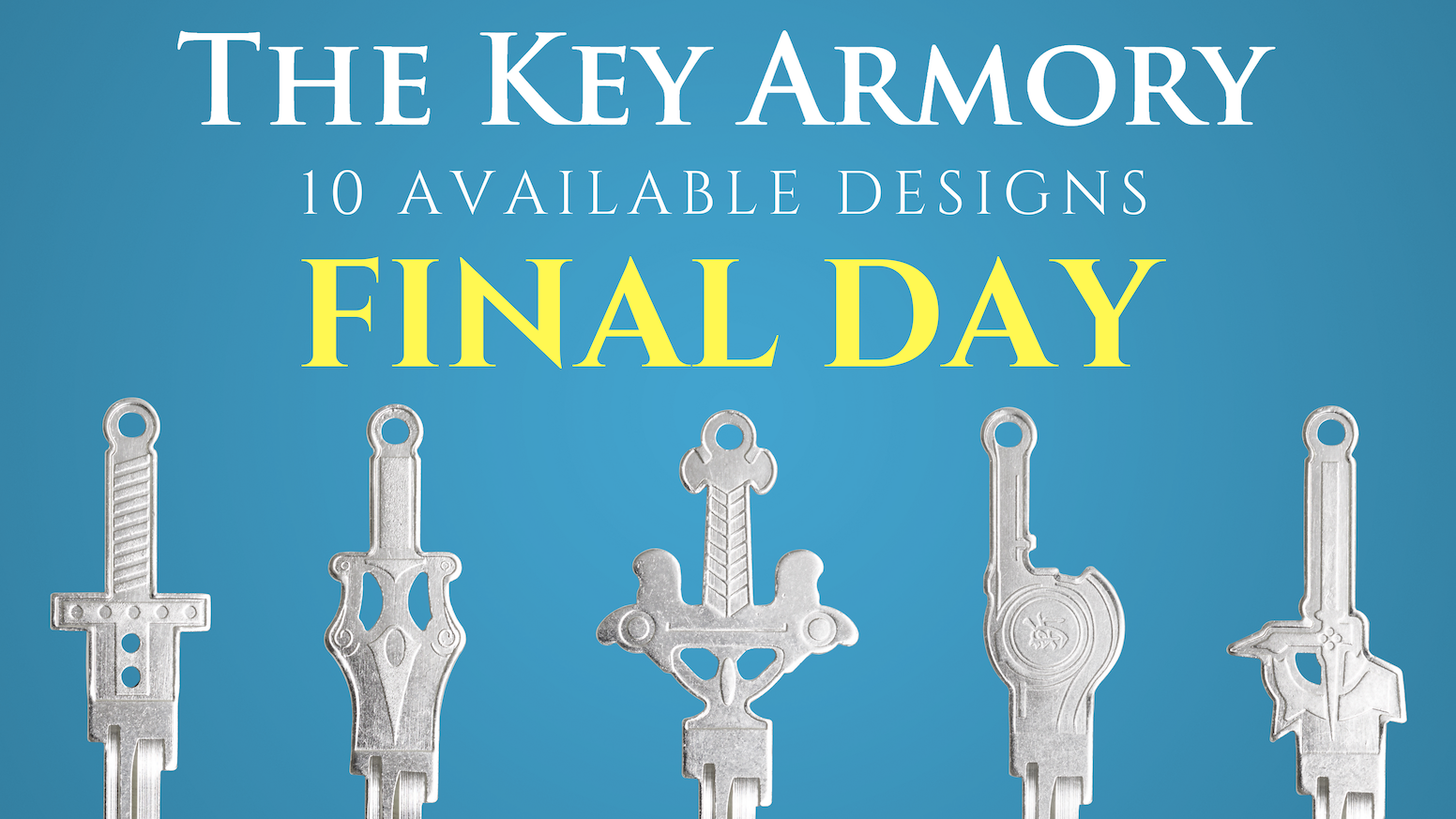 The Key Armory transforms your favorite swords into your key! Inspired by Zelda, Kingdom Hearts, Final Fantasy, He-Man, Xenoblade, Sword Art Online, God of War, & Harry Potter!