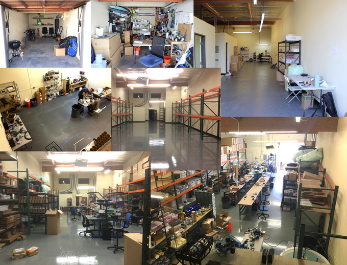 Thanks to your initial support on Kickstarter in 2014, we've grown out of a garage into a workshop/office and out of that one into a larger one!