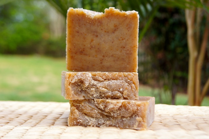 """I made this bar for my kids!  It is called """"Baby's Bottom"""" and made with ground oats, lavender, and honey."""