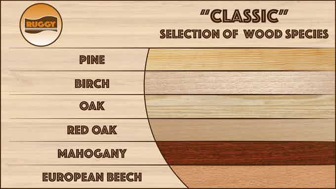 Beautiful wood species for elegance that never fades.