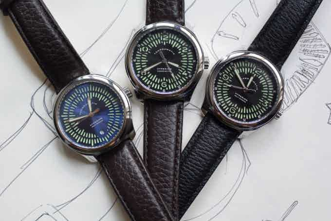 All Hyperion types on leather straps