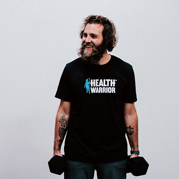 Backers at the $60 level and above will receive a Health Warrior logo running shirt.  Modeled here by Health Warrior Tom!