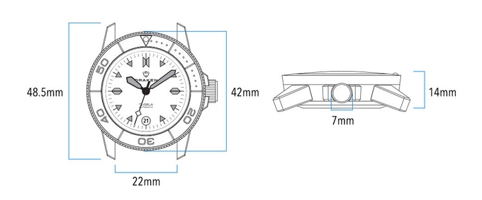 The Draken Tugela Automatic Dive Watch by Draken Watches