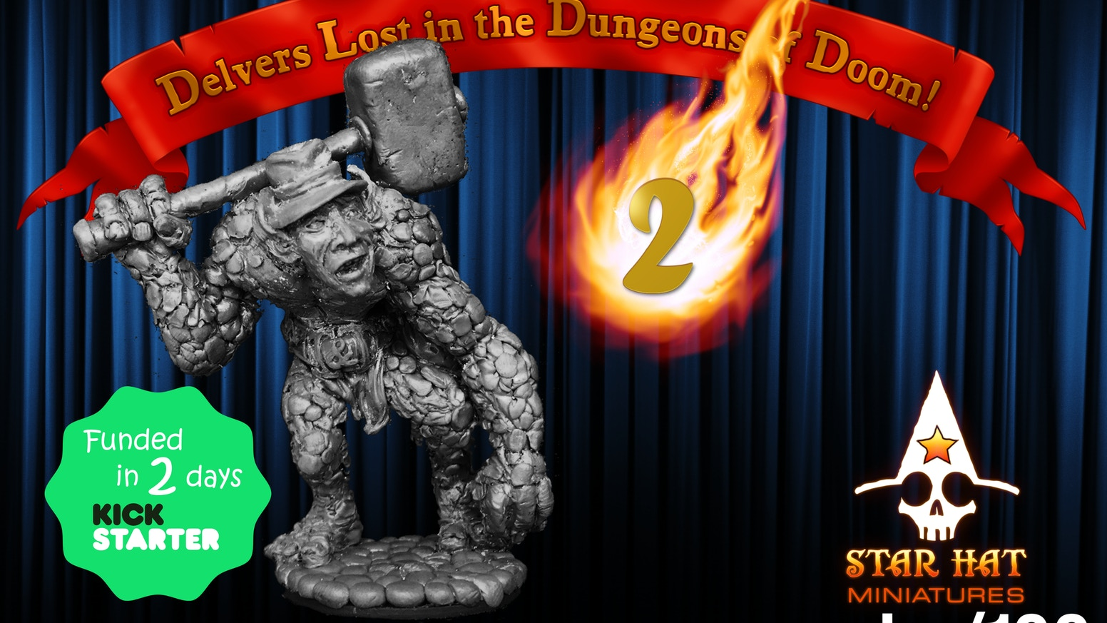 Delvers Lost in the Dungeons of Doom! 2 Heroic scale fantasy miniatures, sculpted by hand and cast in metal, for use in Tabletop Games.
