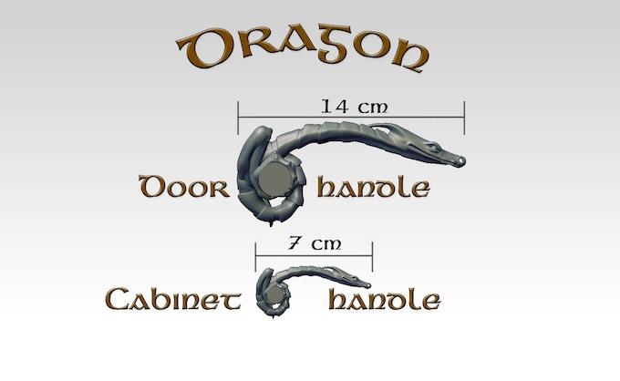Size comparison: doorhandle vs cabinet handle (rendered image)
