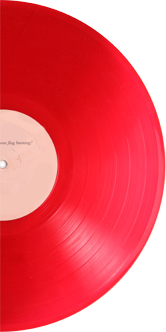 """50-edition vinyl record """"What is the sound of one flag burning?"""" G Douglas Barrett, with B-Side by Samson Young"""