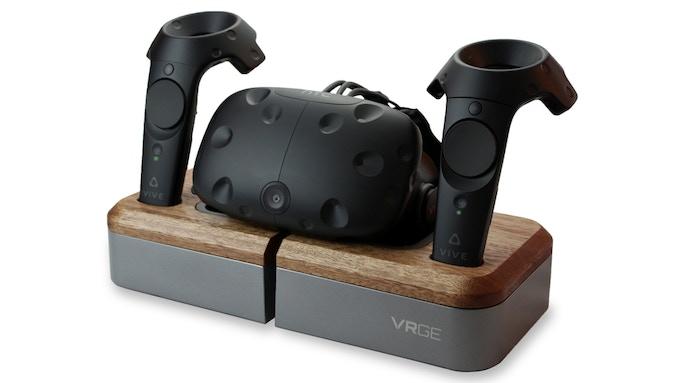 Limited Edition VRGE VR Dock in Walnut Wood/Gunmetal Grey