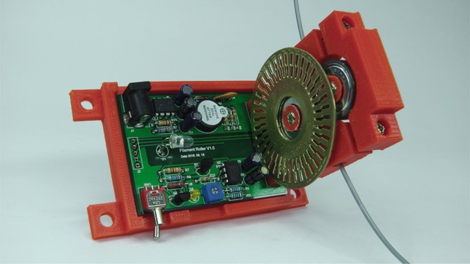 Assembled Inline Filament Roller