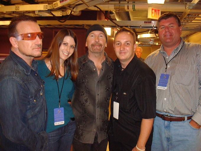 With Bono and Edge