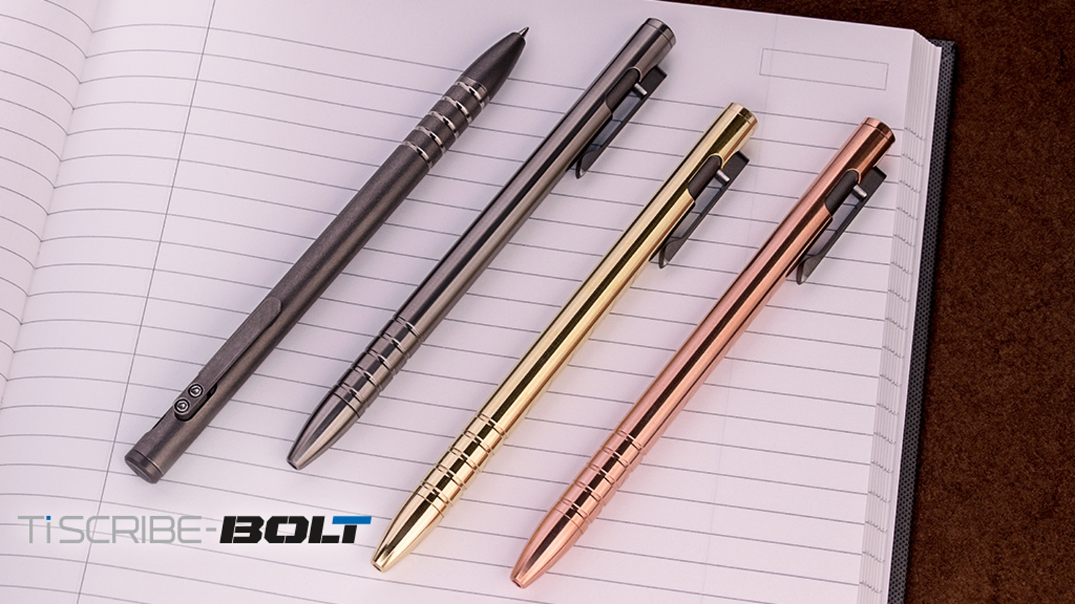 An addicting EDC pen with a unique bolt-action mechanism. The TiScribe-Bolt