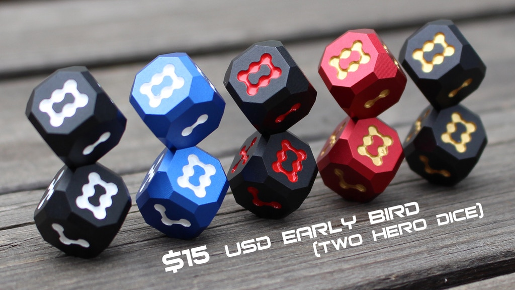 Hero: Aluminum dice inspired by super heroes :) project video thumbnail