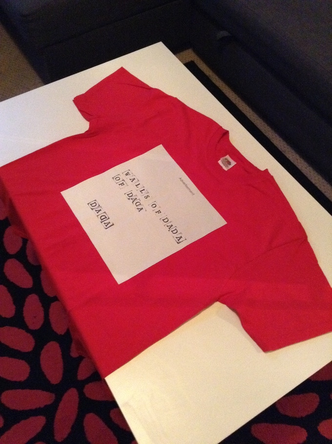 RED Walls Of Dada T-shirt