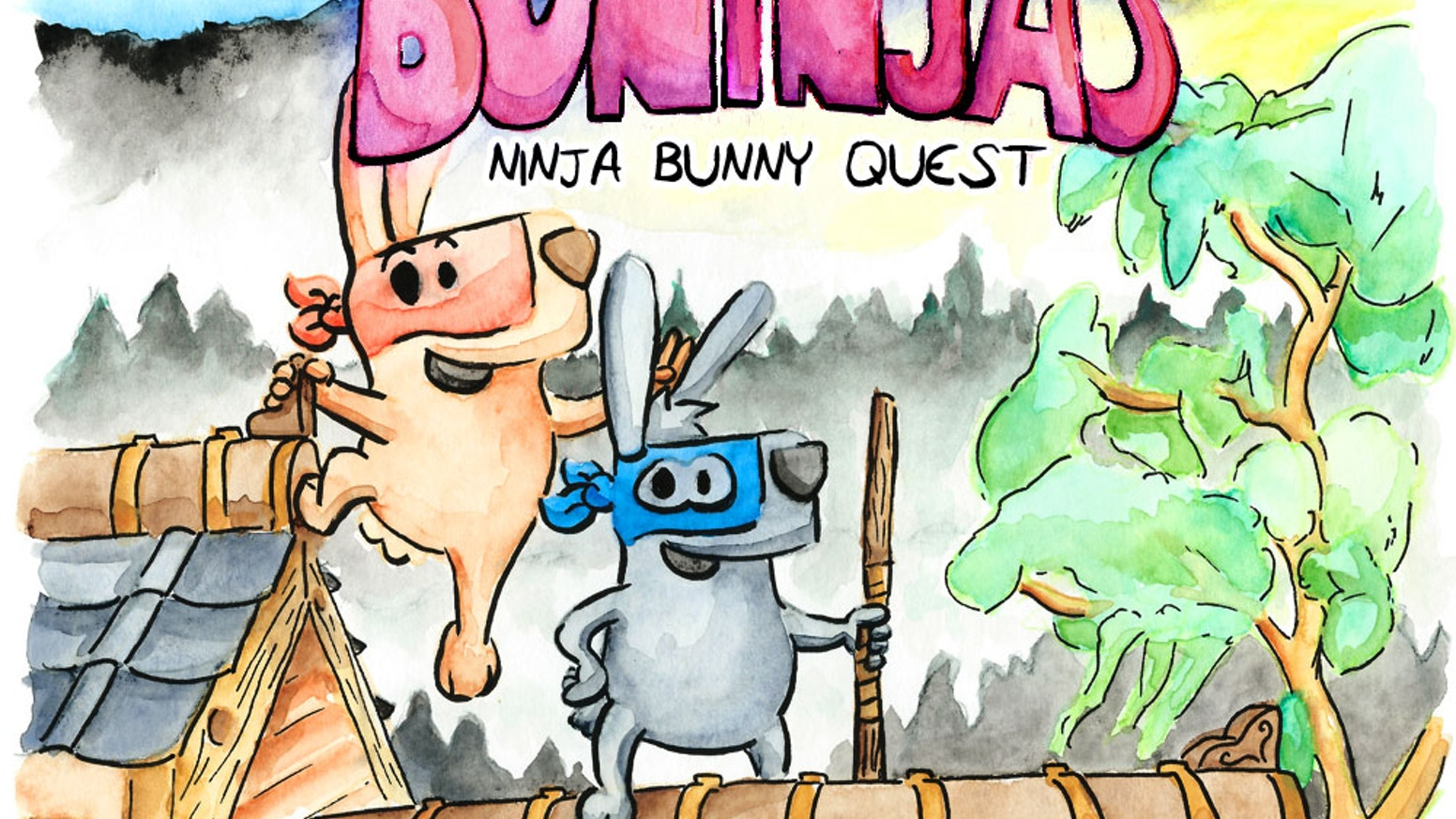 A kids book written by a kid, illustrated by her father. Join the silly, fun and random adventure as two bunnies learn to be ninjas.