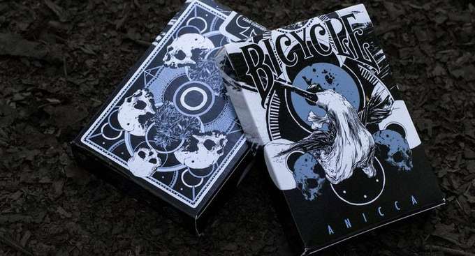 Bicycle Anicca Playing Cards (Metallic blue)