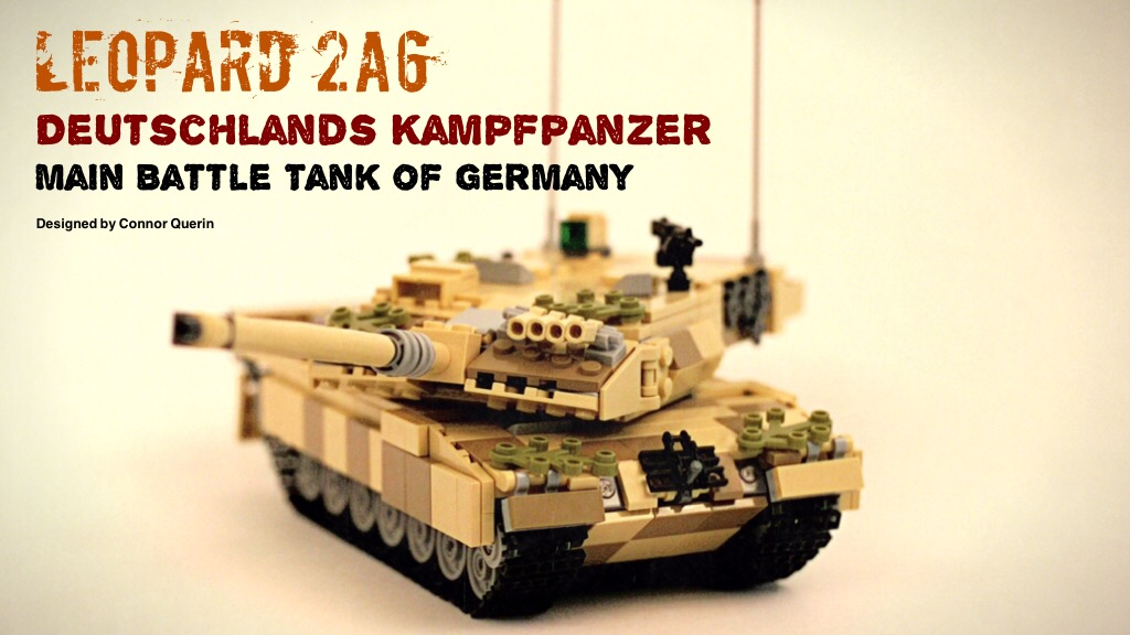 Project image for 1/35 Scale Leopard 2's, Made From Familiar Plastic Bricks!