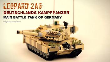 1/35 Scale Leopard 2's, Made From LEGO®!