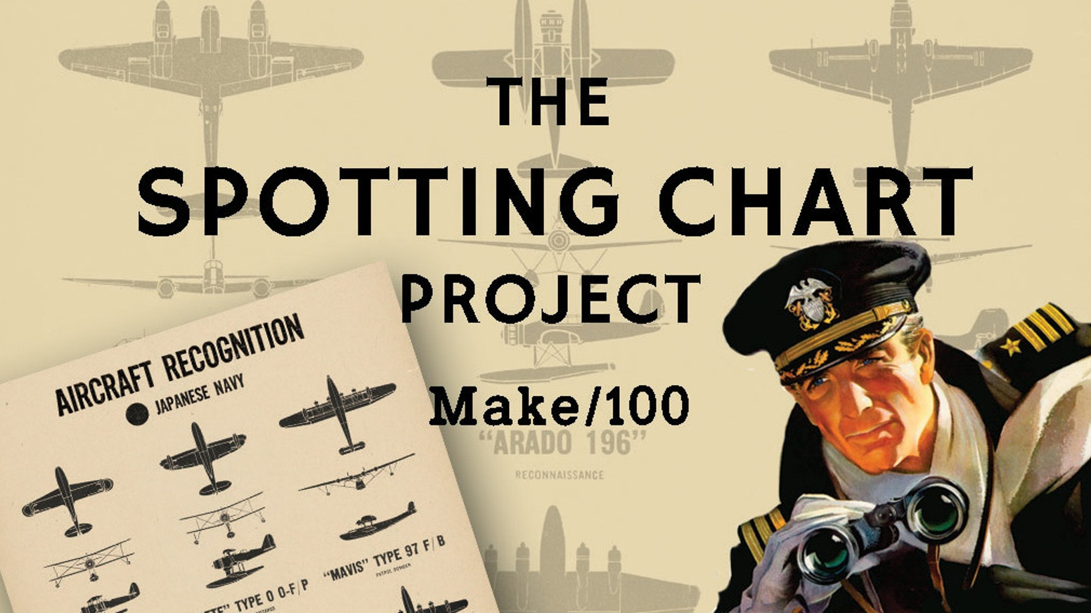 A series of WWII plane spotting charts designed to look like they were authentic military-issued posters dating from the 1940s.
