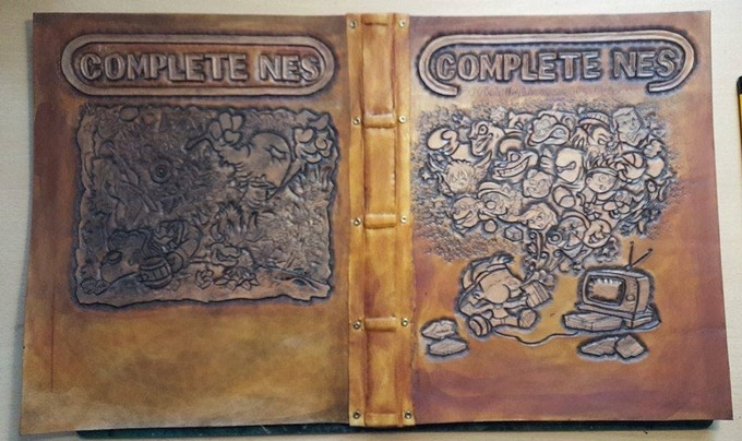 Example of the Complete NES Leather Cover Front / Back. Will have spine text and corners covered too!