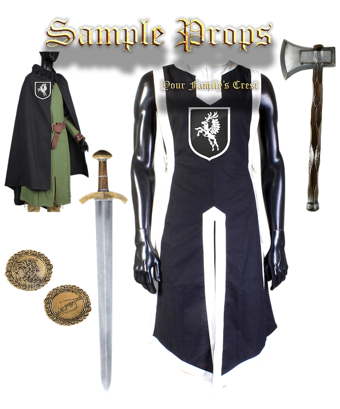 Clothing and weaponry will be offered as per pledge level.