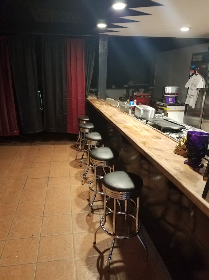 The completed bar ready for action