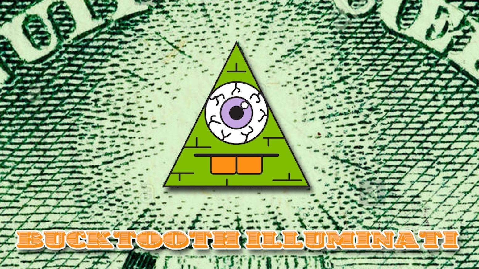 Bucktooth Illuminati enamel pins by BleedingEdges — Kickstarter