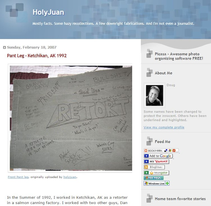 A screen grab of HolyJuan from 2007.