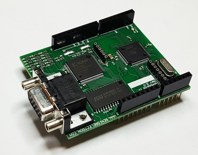 VGADuino-II , New 256 Color Graphic Shield for Arduino by MASIH