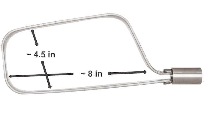 TiGr mini+ (approximate dimensions)
