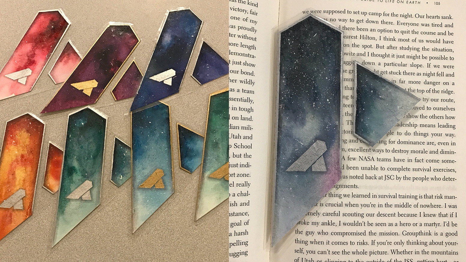 cosmiccathedral watercolor laminated bookmarks by antonio kickstarter