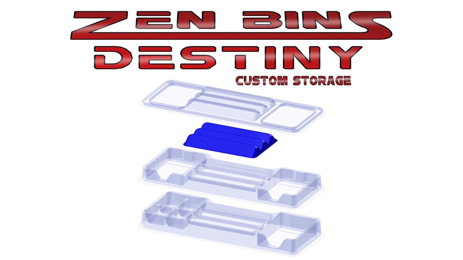Custom Interlocking Stackable Storage Solution to Master Your Destiny Game Collection. Thermoformed Trays Hold Cards, Dice, and Tokens.