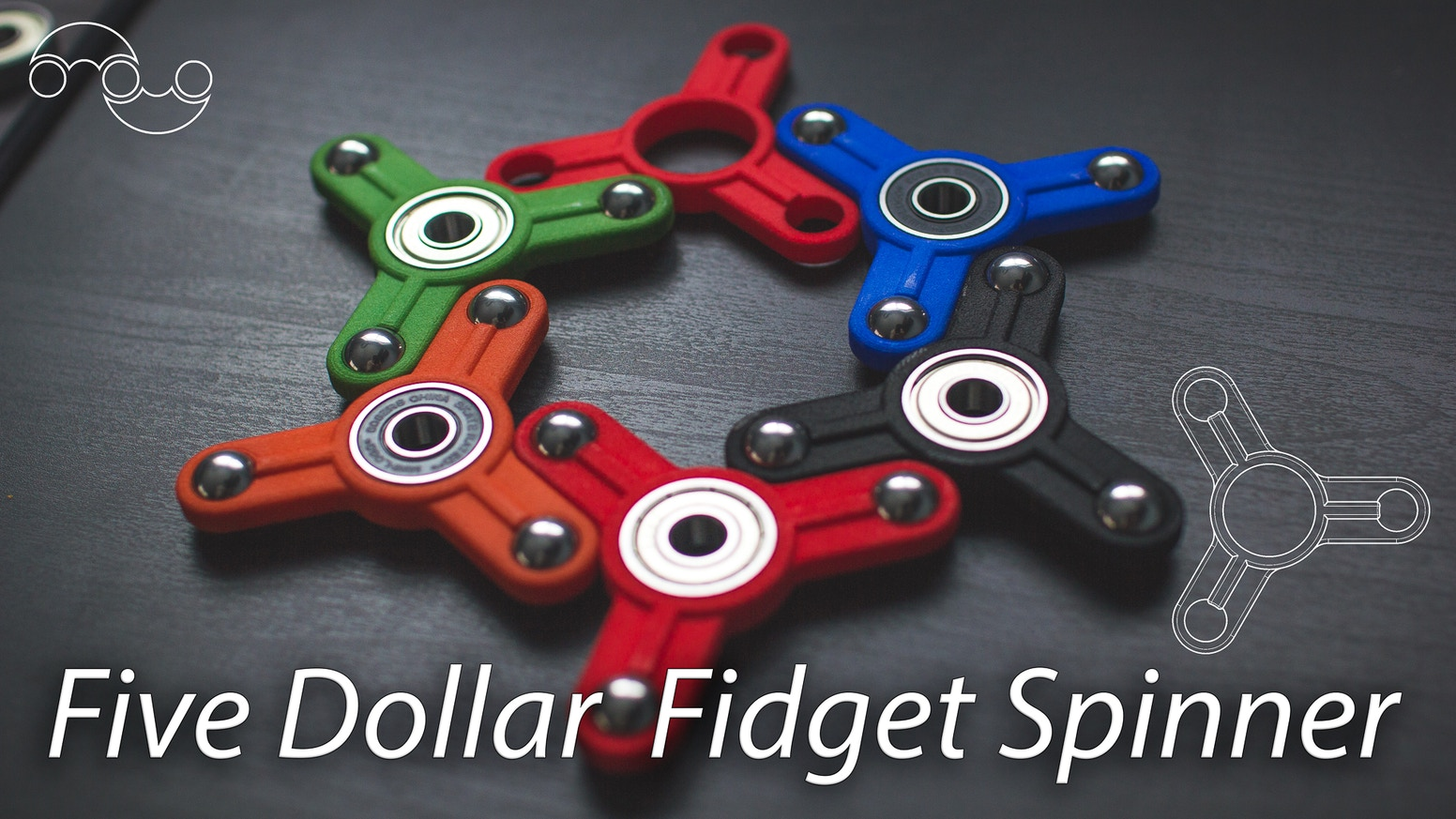 We have created the most inexpensive fidget spinner! Only $5(USD) to get it in the hands of everyone in need. Click the button below to sign up to our mailing list and be notified when Pre-orders are available(and new designs!).