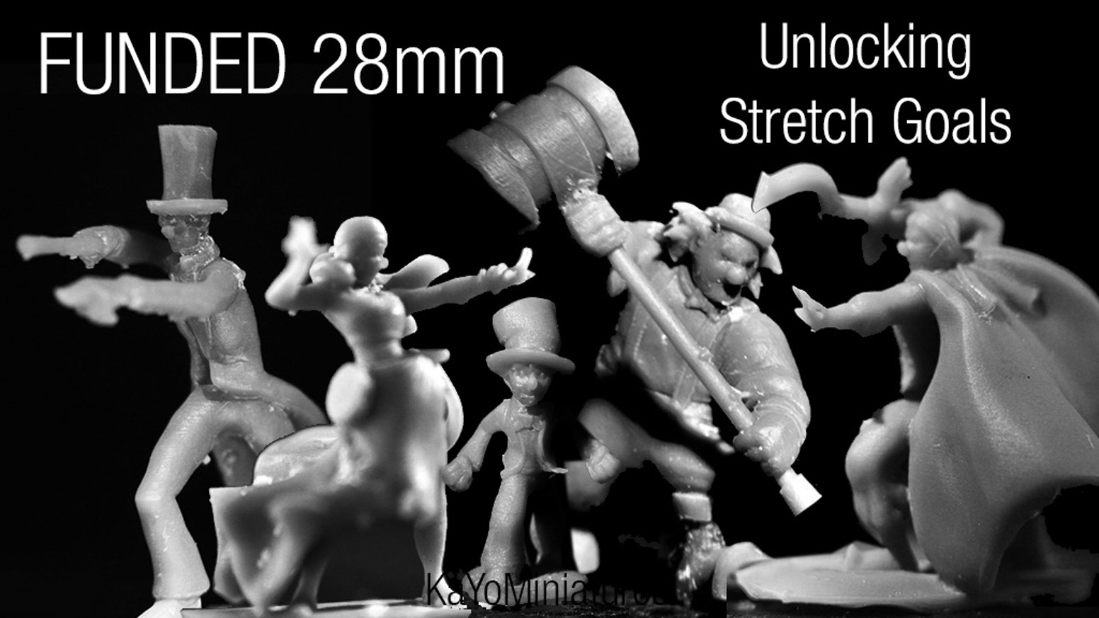 28mm miniatures a personal project from long ago. Lots of Stretch Goals! Come on in and take a look.