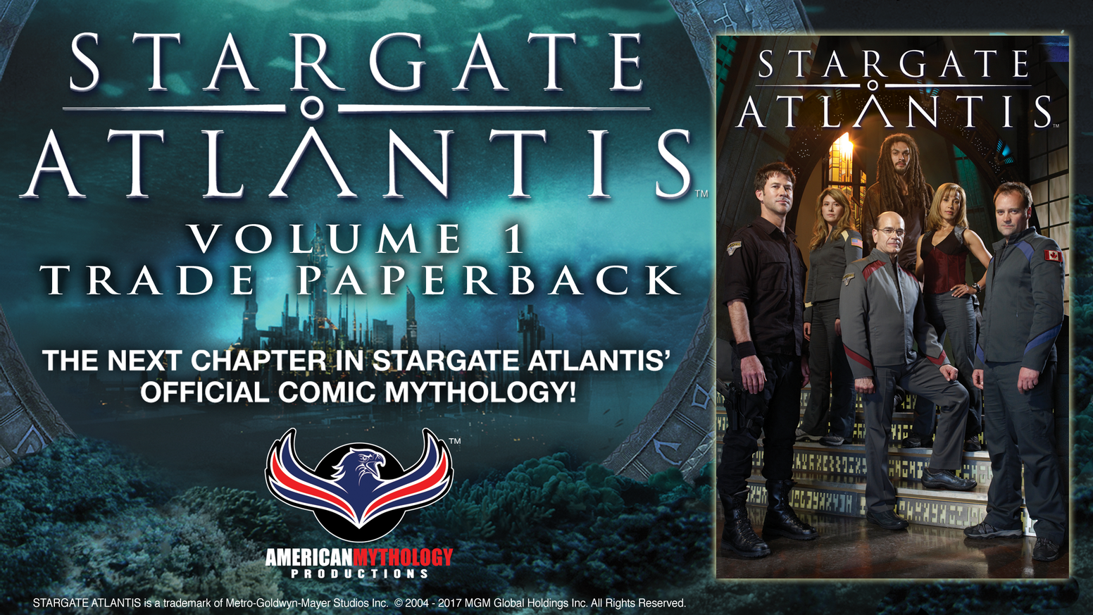American Mythology is proud to bring the collected first two chapters of Stargate Atlantis comic books to a brand new graphic novel!